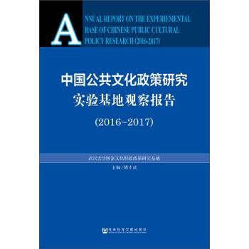 中国公共文化政策研究实验基地观察报告(2016~2017) pdf epub mobi txt 下载